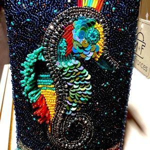Mary Frances Coasting Along Seahorse Phone bag
